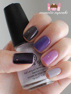 ombre purple ( #nailpolish #chinaglaze #ombre #purple )