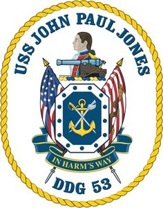 USS John Paul Jones DDG-53 Crest