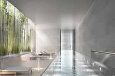 Clearings, London - Design Project   DH Liberty Hotel Swimming Pool, Indoor Swimming Pools, Swimming Pool Designs, Roman Bath House, Pool Water Features, Spa Interior, Eco Architecture, Spa Design, New York City Apartment