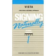 Signing Naturally Student Workbook: Level 1, Expanded Edition Communication Book, Sign Language, Good Books, Learning Asl, High School, Student, Education, Signs, Gift