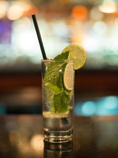 A classic Mojito with fresh mint