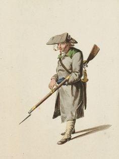 August Christian Hauck: French Infantry fusilier in Holland, late 1794
