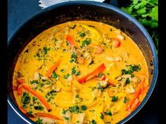 Thai Red Chicken Curry / Easy Thai Curry Recipe - Pooja's Cookery