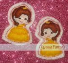 Embroidery Designs - Princess Felt Clippies SET 1 4x4 - Welcome to Lynnie Pinnie.com! Instant download and free applique machine embroidery ...