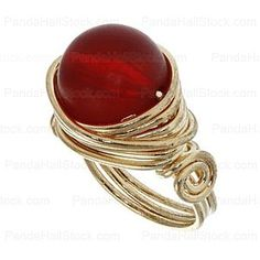 Free wire jewelry tutorial: wire-wrapped ring. Gorgeous! love it! must try! #ecrafty