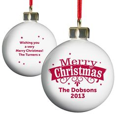 Personalised Retro Christmas Bauble  from Personalised Gifts Shop - ONLY £10.99