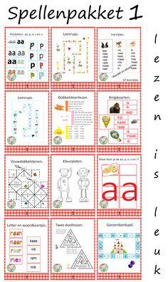 Aantrekkelijk pakket met veel leesspelletjes. Goed te gebruiken bij Kern 1 van VLL kim versie. Dutch Language, Scandal Abc, Spelling, Circuit, Preschool, Bullet Journal, Classroom, Teaching, Kids