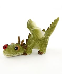 Another great find on #zulily! Mini Dragon Playing with Ladybug Figurine by Top Collection #zulilyfinds