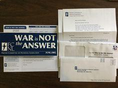 Free WAR is NOT the ANSWER Free Bumper Sticker #freestuff #freebies #samples #free