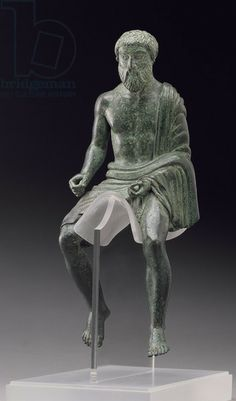 Statuette of a rider, Etruscan, late 5th century BC (bronze). Detroit Institute of Arts, USA / City of Detroit
