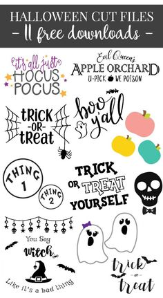 11 FREE SVG Downloads for Halloween!
