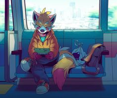 "orangetavi: "" Just another trip to the city. Website | deviantArt | Twitter """