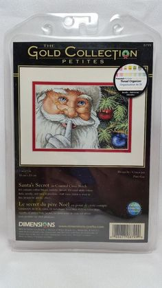 Counted Cross Stitch Kit SANTA'S SECRET Dimensions Gold Collection Petites #8799 #Dimensions #Multi