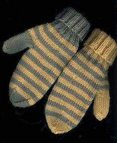 Mittens pattern by Purl Soho Ravelry: Classic Mittens pattern by Bernhard Ulmann / Bear Brand / Botany / Bucilla / FleisherRavelry: Classic Mittens pattern by Bernhard Ulmann / Bear Brand / Botany / Bucilla / Fleisher Knitted Mittens Pattern, Knit Mittens, Knitted Gloves, Knitting Patterns, Striped Mittens, The Mitten, Knitting Yarn, Hand Knitting, Knit Or Crochet