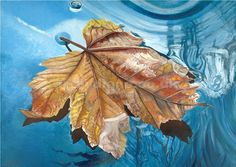 'A Drop of Autumn' by British acrylic artist Diane Holmes.