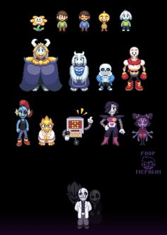 I started drawing Undertale sprites and I couldn't stop ;Undertale owned by Toby Fox, etc. Undertale Comic, Undertale Undertale, Frisk, Undertale Pixel Art, Gaster Sans, Sprites, Fan Art, Mega Lucario, Toby Fox