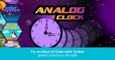 Use your knowledge of math and geometry to create a working analog clock with this challenging STEM coding project.