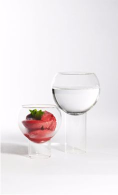 tulip glasses - hand crafted by master glass blowers!