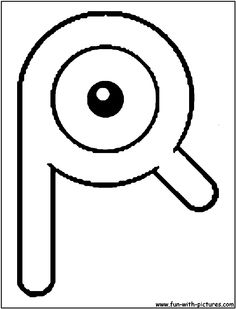Unown R Coloring Page Pokemon PagesAlphabetColouring