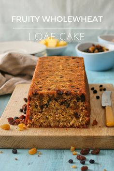 Fruity wholewheat loaf cake. I love baking this easy cake with the kids and it makes a delicious snack!