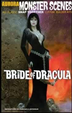 "Aurora ""The Bride of Dracula"" plastic model kit. Cool Monsters, Famous Monsters, Classic Monsters, Horror Posters, Horror Comics, Horror Art, Horror Room, Plastic Model Kits, Plastic Models"