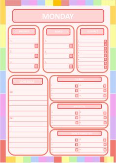 rainbow template personal planner refils for a5 or a4 print in any size you like hope you. Black Bedroom Furniture Sets. Home Design Ideas