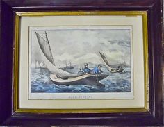 """Lot 98: CURRIER & IVES, """"Blue Fishing"""", c.1866 - J. James Auctioneers and Appraisers 