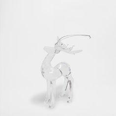 Transparent acrylic reindeer decoration