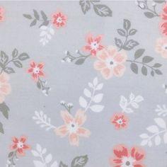 Pink flowers in Grey