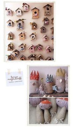 Bird House Inspiration: must diy my own bird house this year! http://media-cache8.pinterest.com/upload/30821578669293574_y2yOb4eq_f.jpg alexc inspiration