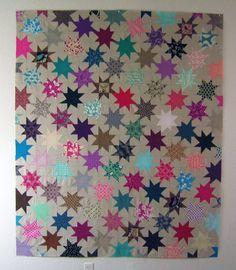 Sparkle Punch Quilt — Patterns by Elizabeth Hartman Big Block Quilts, Star Quilt Blocks, Star Quilt Patterns, Star Quilts, Mini Quilts, Baby Quilts, Sewing Patterns, Quilting Projects, Sewing Projects