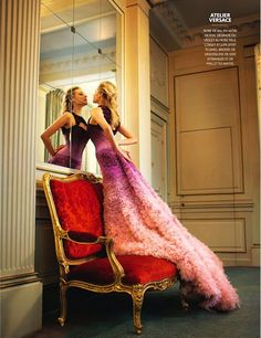 The sublime couture and Diane Kruger, enchant for the cover story of latest Madame Figaro photographed by Dominique Issermann. Diane Kruger, Beautiful Dresses, Nice Dresses, Amazing Dresses, Gorgeous Dress, Dresses Dresses, Beautiful Clothes, Wedding Dresses, Le Meurice