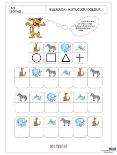 Body Preschool, Preschool Math, Fun Math, Senses Activities, Preschool Learning Activities, Kids Learning, Visual Perception Activities, Coding For Kids, English Activities