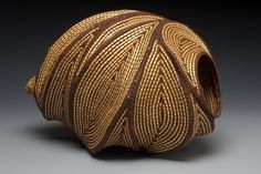 "Jan Hopkins - ""In Motion""Grapevine, waxed linen and Alaskan yellow cedar bark"