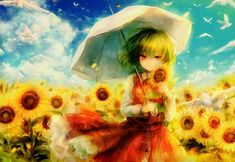 touhou Part 139 - - Anime Image Dark Jokes, Organizing Hair Accessories, Spice And Wolf, Braided Hairstyles For Wedding, New Hair Colors, Red Eyes, Cute Little Girls, Green Hair, Drawing People