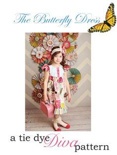 The Butterfly dress de A Tie Dye diva pattern de 2 à 8 ans