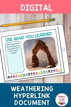 This hyperlink document is a fun way for students to explore physical and chemical weathering, erosion and deposition independently. Great for distance learning. 4th Grade Science Experiments, Earth Science Activities, Science Curriculum, Science Fun, Science Resources, Elementary Science, Science Lessons, Teacher Resources, Learning Tools