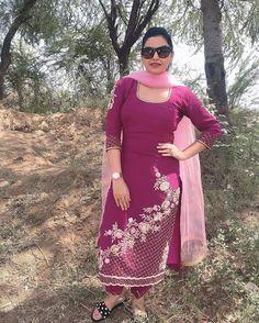 Instagram Designer Punjabi Suits Patiala, Punjabi Suits Designer Boutique, Indian Designer Suits, Salwar Suits, Boutique Suits, Salwar Kameez, Embroidery Suits Punjabi, Embroidery Suits Design, Embroidery Dress