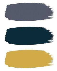 "From top to bottom ""Juniper Ash"", ""Hicks' Blue"" & ""Yellow Pink"" Little Greene. Blue Bedroom, Trendy Bedroom, Bedroom Colors, Purple Bedrooms, Diy Bedroom, Bedroom Neutral, Bedroom Ideas, Master Bedroom, Colour Schemes"