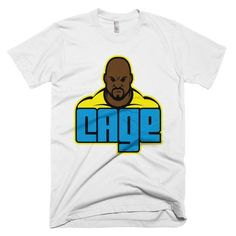 One of a kind design of comic book hero Luke Cage This American Apparel t-shirt is the smoothest and softest t-shirt you'll ever wear. Luke Cage Shirt, Comic Book Heroes, Comic Books, American Apparel, Netflix, Third, Comics, Stars, Mens Tops