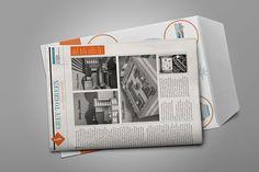 Newspaper and Map of Pretoria designed in a creative way