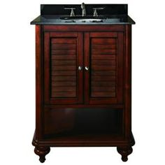 Avanity Tropica 24 in. W x 21 in. D x 34 in. H Vanity Cabinet in Weathered Brown-TROPICA-V24-AB at The Home Depot $581 no top included