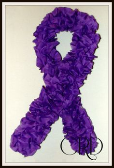Purple Ribbon Awareness Wreath www.charleerosedesigns.etsy.com
