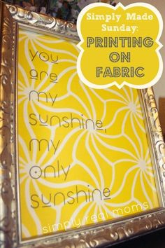 How to Print on Fabric, Links to the Best Last Minute Homemade Gift Guide!!