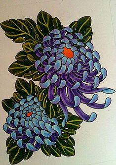 Chrysanthemum Tattoos Designs And Ideas : Page 6 Japanese Flower Tattoo, Japanese Tattoo Designs, Japanese Sleeve Tattoos, Japanese Flowers, Flower Tattoo Designs, Flower Tattoos, Chrysanthemum Drawing, Japanese Chrysanthemum, Chrysanthemum Flower