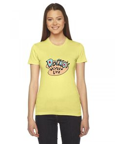 rocko's modern life Ladies Fitted T-Shirt