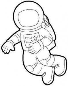 astronaut in space coloring page - photo #28