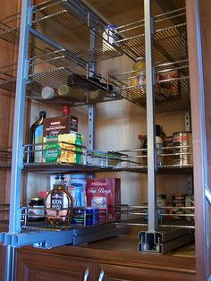 pull out pantry racks in kitchen... I need these in my pantry instead of shelves.