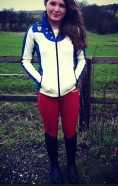Injecting Colour into Winter Equine Wear... Kingsland – Jackson Softshell Jacket in Royal partnered with the Kingsland – Red Chilli Pepper Kelly Breeches (Ladies Slim Fit)