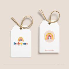 Rainbow Branding Kit Rainbow Logo Design Kids Logo | Etsy Branding Kit, Branding Your Business, Kids Branding, Branding Design, Boheme Boutique, Logo Boutique, Rainbow Logo, Kids Logo, Logo Maker